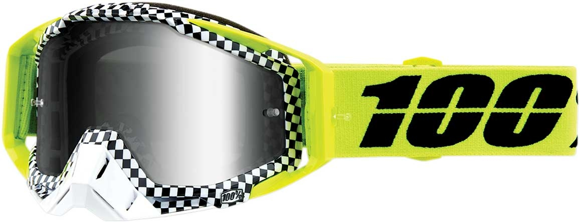 Mirrored Lens 100/% Adult Racecraft Dirtbike ATV Goggles MX Motocross Dirtbik