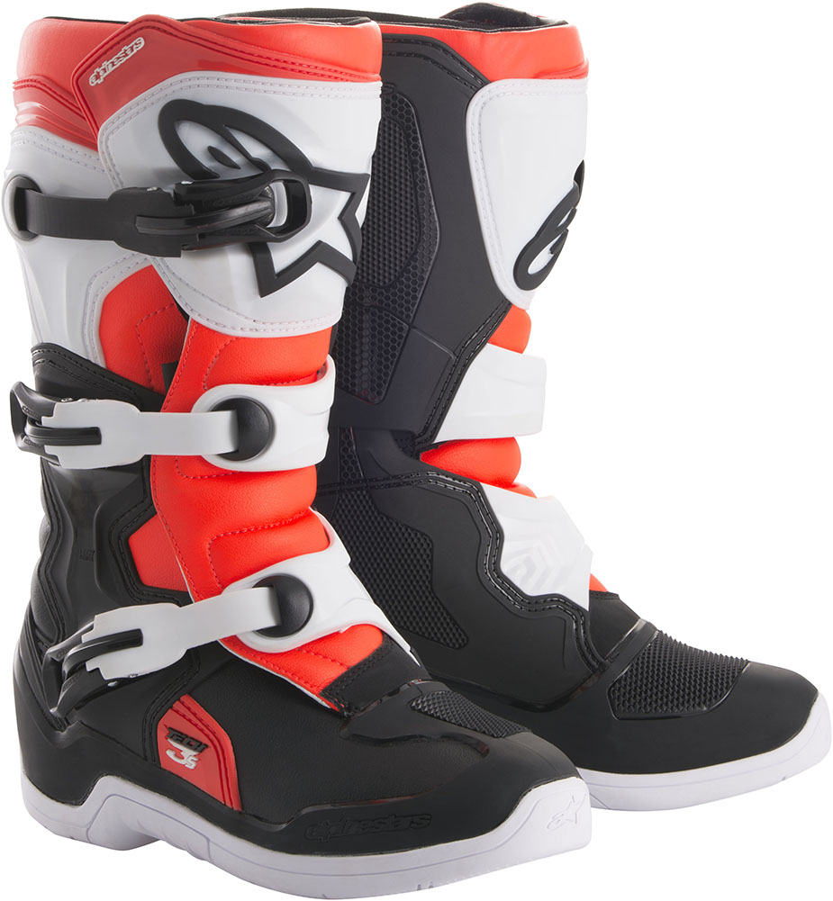 86b8a8f629102f Alpinestars Tech 3s Youth MX Offroad BOOTS Black white red 3 USA