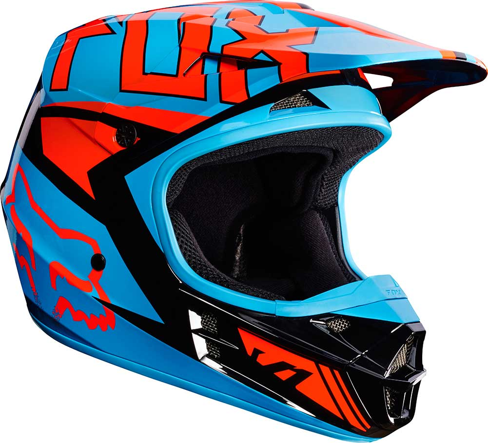 2017 Fox Racing V1 Falcon Helmet Motocross Dirtbike Offroad Mens